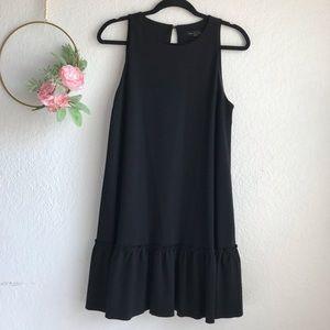 Banana Republic Black Sleeveless Ponte Dress